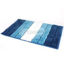 """<b>Коврик для ванной OFELIS</b> """"Полоска"""", 50х80см, цвет: синий ..."""
