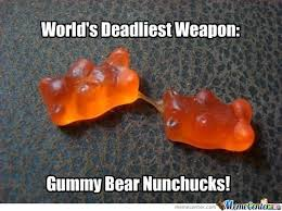 Gummy Bear Nunchucks! by bogdan.milenkovic.79 - Meme Center via Relatably.com