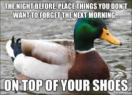 A Most Useful Meme: Actual Advice Mallard | Crooked Glasses via Relatably.com