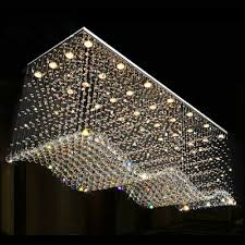 Luxury Modern Luxury LED Rectangle Clear K9 <b>Crystal Lighting</b> ...