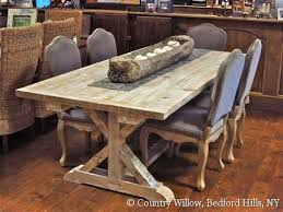 7ft dining table: country willow furniture ft garden trestle table antique pine home furnishing pinterest kitchen tables chairs and trestle table