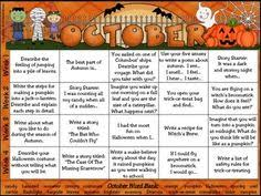 Halloween Writing Activities For Middle Schoolers   free