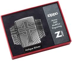 29667 <b>Зажигалка</b> Zippo <b>Armor Celtic</b> Cross Design, Antique Silver