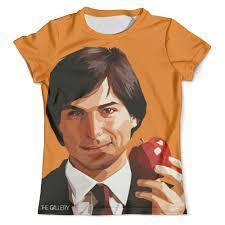 Футболка с полной запечаткой (мужская) Стив Джобс (<b>Apple</b> ...