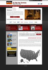 fsbo flat fee real estate web site development and web design for view full screenshot style red