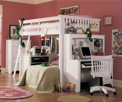 white polished teak wood bunk bed with double desk and ladder combined with swivel chair with bunk beds stairs desk