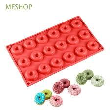 <b>18 Cavity</b> Color Random Pan <b>Doughnut</b> Molds Silicone <b>Donut</b> ...