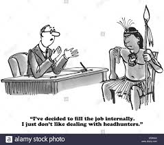business cartoon about filling a job internally rather than work business cartoon about filling a job internally rather than work headhunters