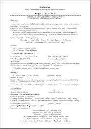 esthetician resume samples template esthetician resume samples
