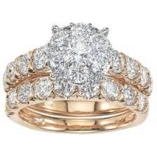 2.96 CT. T.W. <b>Diamond</b> Bridal Set in <b>14K Gold</b> - Sam's Club