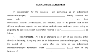 business non compete agreement create professional resumes business non compete agreement non compete agreement sample contracts and business forms home business