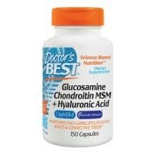 Doctor's Best <b>Glucosamine Chondroitin</b> MSM + <b>Hyaluronic</b> Acid ...