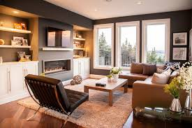 tan leather sofa in family room contemporary with beige throw pillow accent lighting accent lighting family room
