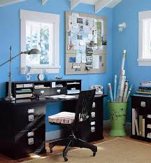 image office decor office decoration design ideas small home office with blue paint blue office room design