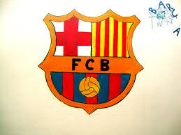 barcelonas logo on the wall in my bedroom by chris project barcelona bedroom