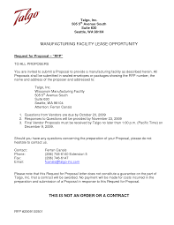 rfp response cover letter examples cover letter examples  sample