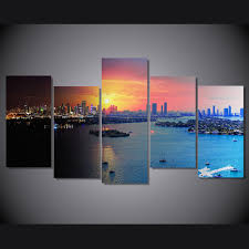 2019 Framed <b>HD Printed</b> Florida Miami <b>City</b> Picture Wall Canvas ...