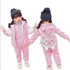 Baby Boys <b>Girls</b> Warm Set <b>Winter</b> Cartoon cat Kids Thickening ...