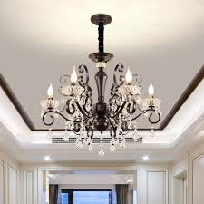 Купить <b>Black</b> Scroll Arm Chandelier Traditional Metal 6-Bulb ...
