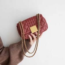VENOF Korean version split leather shoulder bag for woman fashion ...
