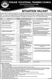 punjab vocational training council required jobs opportunity in punjab vocational training council required jobs opportunity