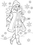 Раскраски девушка в одежде