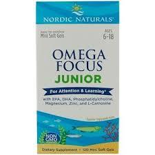 Nordic Naturals, <b>Omega Focus Junior</b>, 120 Mini Soft Gels | Organic ...