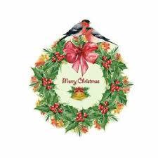 prelike Wall Decor <b>Christmas Wreath</b> Garland <b>Window Glass</b> Decal ...