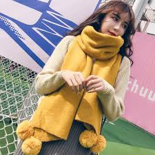 <b>Winter Women</b> Solid Knitted Scarf Cashmere Poncho Scarves With ...