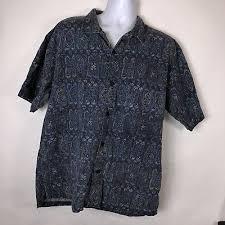 Vtg 80's Shah <b>Safari</b> Men's Retro <b>Geometric</b> Cotton Shirt <b>Large</b> L ...