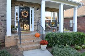 fall porch outdoor decorating idea simple harvest