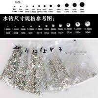 Crystal AB Rhinestones Glass Flatback Clear Strass Stones for Nail ...
