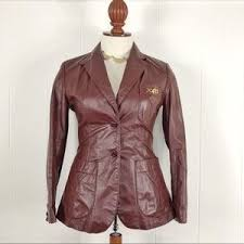 Women <b>Etienne Aigner Leather</b> Jacket on Poshmark