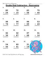 Regrouping Subtraction Worksheets 2nd Grade - WorksheetsDouble Digit Subtraction Worksheet Regrouping
