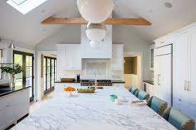 cathedral ceiling double skylight kitchen