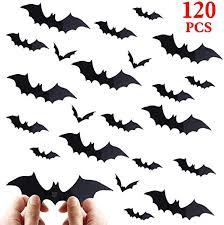 <b>Halloween</b> Bat Decorations <b>Party</b> Supplies - 120 PCS <b>3D</b> Bats Wall
