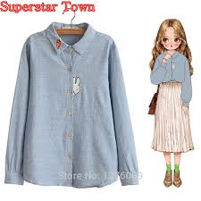Sweet Lolita <b>Blouse</b> Harajuku Style Girls Ladies Embroidery ...