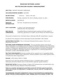 aircraft mechanic supervisor resume  technician vacancy    aircraft mechanic supervisor resume