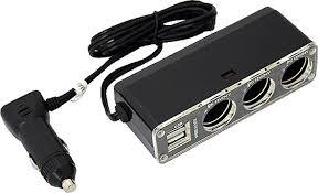 <b>Разветвитель</b> прикуривателя AutoStandart, на <b>3 гнезда</b> + 2 USB ...