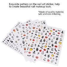 Ccdes 6pcs Exquisite Nail Art Sticker <b>Halloween Theme Pattern</b> ...