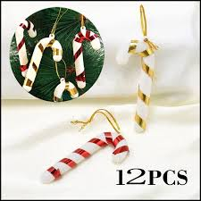 <b>12Pcs</b> Xmas Tree Candy Cane Hanging Ornament Decor Christmas ...