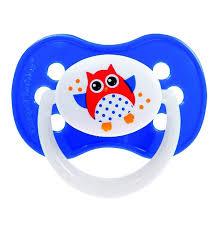 <b>Пустышка симметричная силиконовая Canpol</b> babies Owl 18+ ...