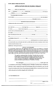 building permits permit application from the township clerk and fill it out