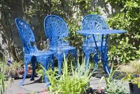 wrought iron patio furniture houston on of blue painted wrought iron garden furniture on the patio antique rod iron patio