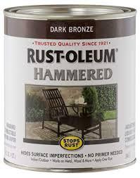Rust-Oleum 239075 Hammered <b>Metal</b> Finish, Dark <b>Bronze</b>, 1-Quart ...