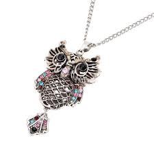 <b>Fashion Vintage Retro Colorful</b> Crystal Rhinestone Hollow Owl ...