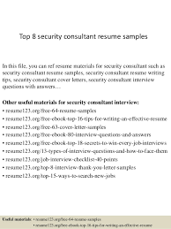 top  security consultant resume samplestop  security consultant resume samples in this file  you can ref resume materials for