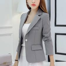 <b>Autumn Women</b> Slim Blazer Coat <b>2016 New</b> Fashion Casual Jacket ...