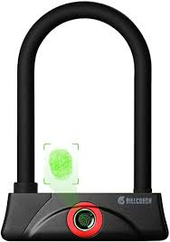 Fingerprint U Bike Lock,Waterproof Bike U-Lock with ... - Amazon.com