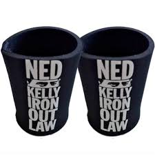 ned kelly n iron outlaw hero legend two 2 ned kelly iron outlaw black stubby holder can coolers